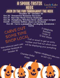 A Spook Tastik Week: join in the fun throughout the week.