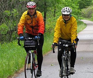 people riding on the biking trails