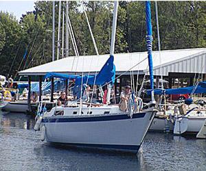 Sailboat on Leech Lake Minnesota