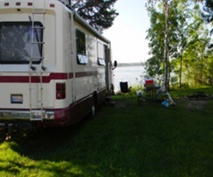 RV on a lake