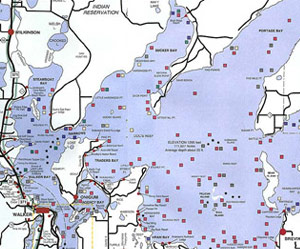 Leech Lake Map Fish | Leech Lake Chamber of Commerce | Walker MN