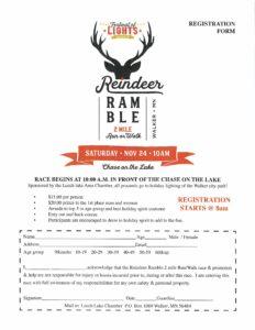 Reindeer Ramble sign up sheet