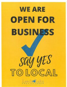 We are Open for Business, Say Yes to Local
